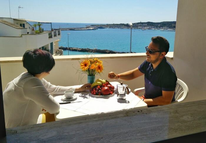 trilocale ad Otranto con balcone sul mare